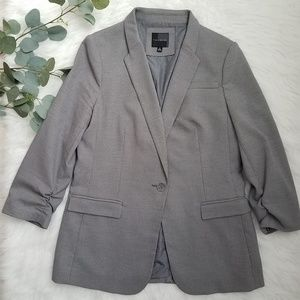 THE LIMITED Collection Ruched Gray Blazer M